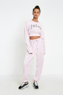 Juicy Couture - Juicy Couture X VFILES Pink Velour Sweatpants, pink