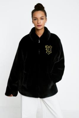 Juicy Couture - Juicy Couture X VFILES Black Faux Fur Jacket, black