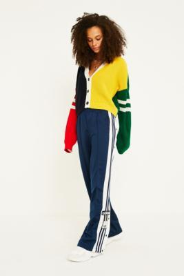 Adidas Originals Adibreak 3 Stripe Navy Taping Popper Track Pants by Adidas Originals