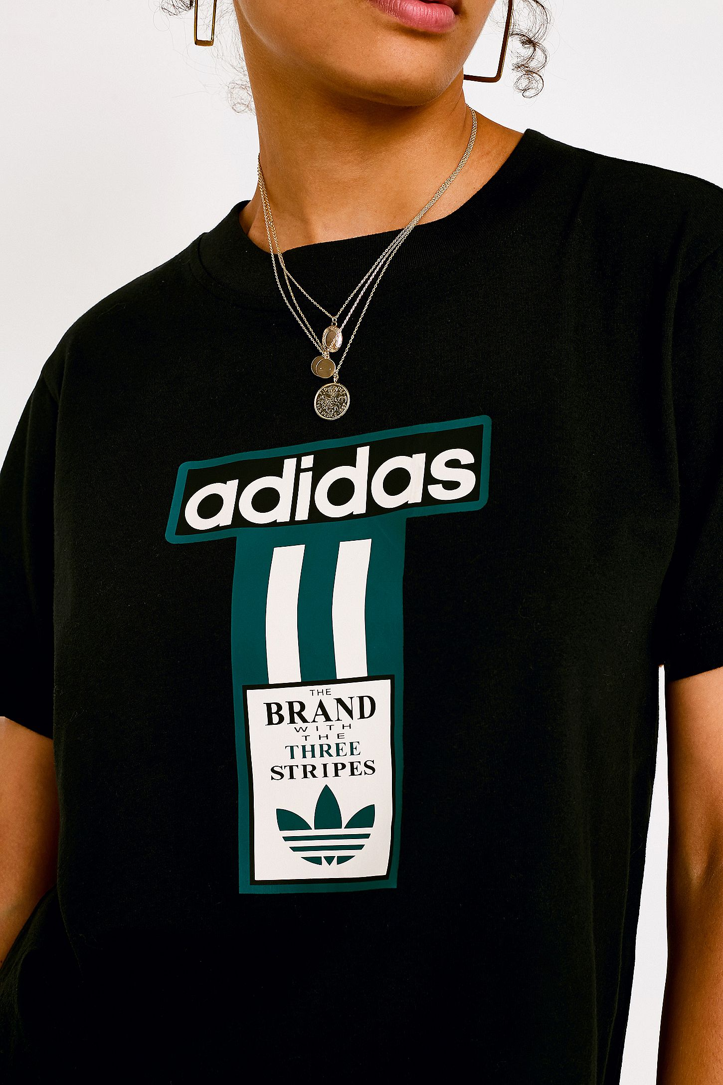 adidas Originals 3-Stripe Logo Black T-Shirt  cab288c07a8e