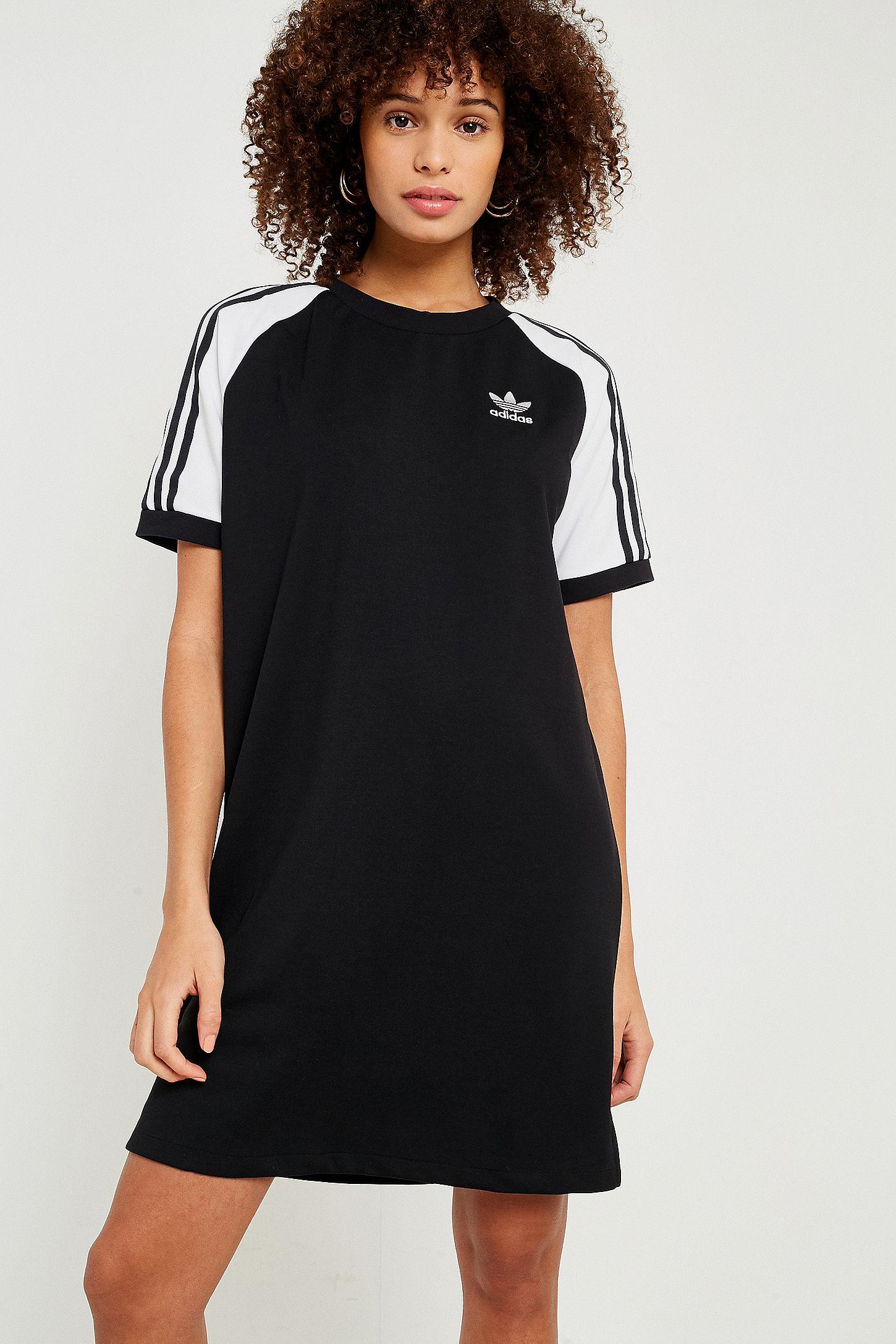 adidas Originals 3-Stripe Raglan Sleeve T-Shirt Dress  bb50cdbea2ac