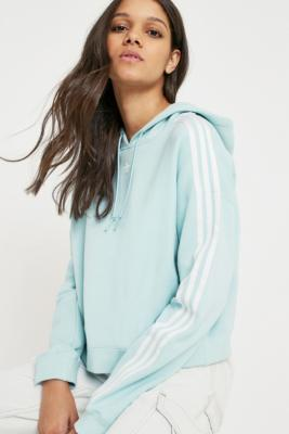 Adidas Originals - adidas Originals Adicolor Mint Crop Hoodie, Mint