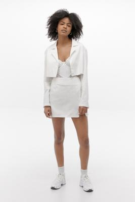 Motel Noly White Cropped Blazer - White M at Urban Outfitters