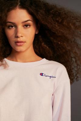Champion Logo Lilac Long-Sleeve T-Shirt - Womens S