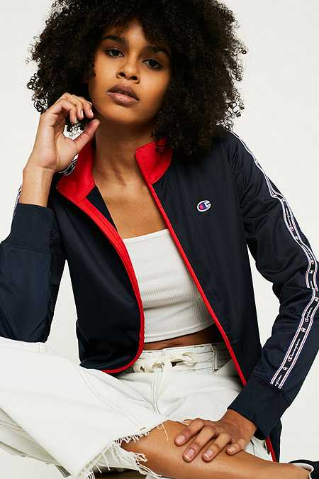 Champion Navy Taping Track Jacket
