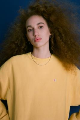 Urban Outfitters - Champion X UO Yellow Crew Neck Sweatshirt, Yellow