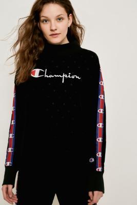 1cef10c61213 Shoptagr   Champion Velour Roll Neck Sweatshirt by Champion
