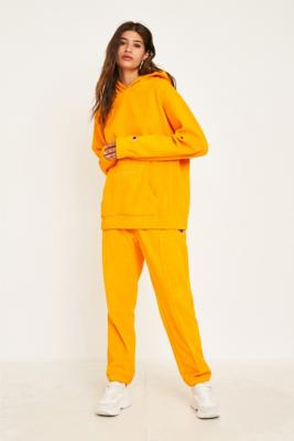 Champion Yellow Heavy Velour Track Pants by Champion