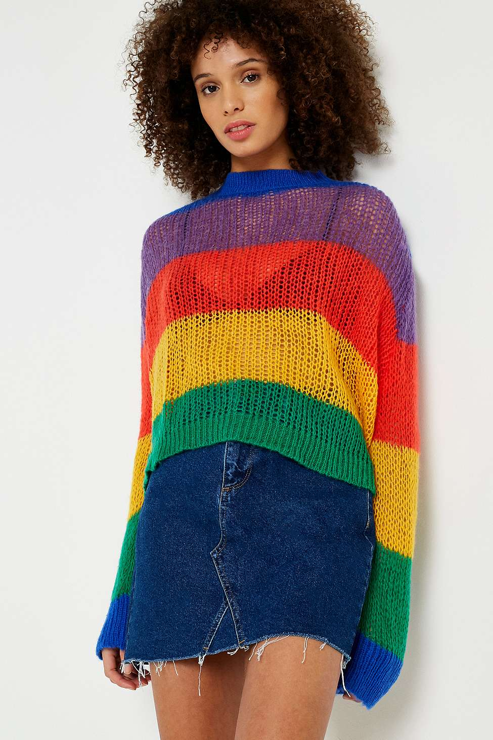 Lazy Oaf Rainbow Oversized Knit Jumper Urban Outfitters Fr