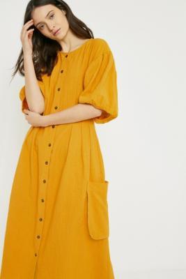 LF Markey - LF Markey Oliver Mustard Dress, Yellow