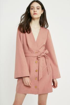 The East Order - The East Order Dhalia Pink Mini Dress, Pink