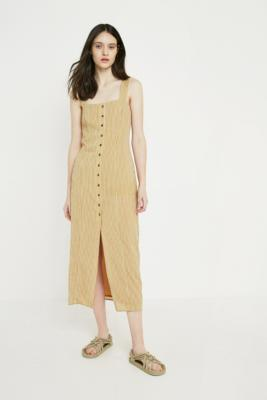 The East Order - The East Order Yarrow Yellow Midi Dress, Yellow