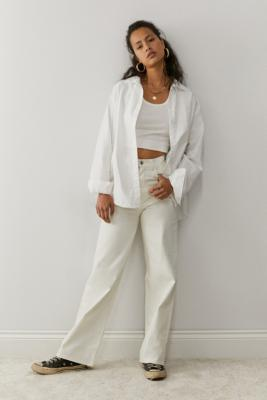 Levi's High Loose Ecru Jeans - White 27W 31L at Urban Outfitters