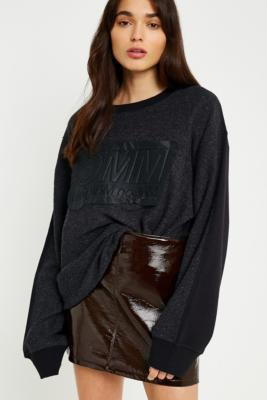 MM6 Maison Margiela - MM6 Black Terry Logo Jumper, Black
