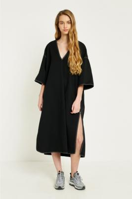 MM6 Maison Margiela - MM6 Contrast Stitch Tunic Dress, Black