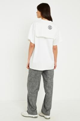 MM6 Maison Margiela - MM6 Oversized Logo T-Shirt, White