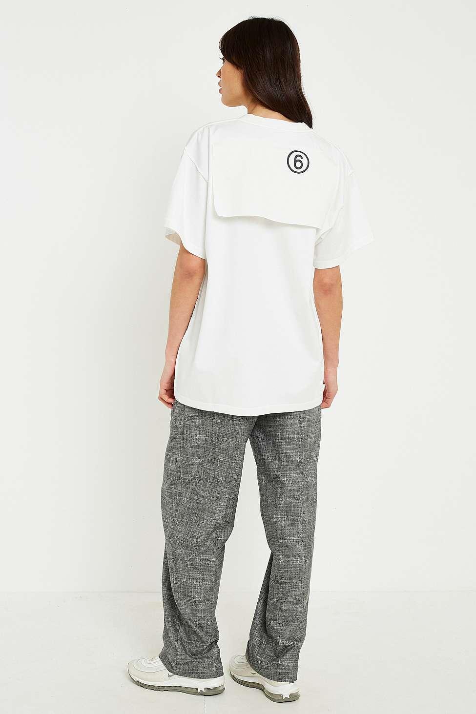 MM6 Oversized Logo T-Shirt, White