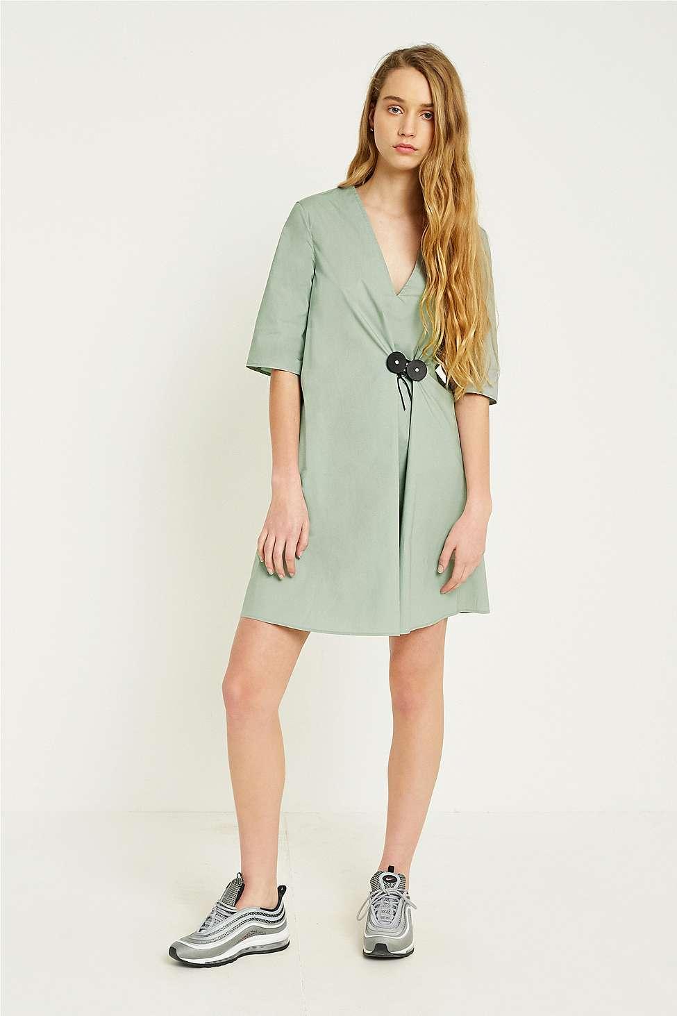 MM6 Seabeam Tie-Front Dress, Green