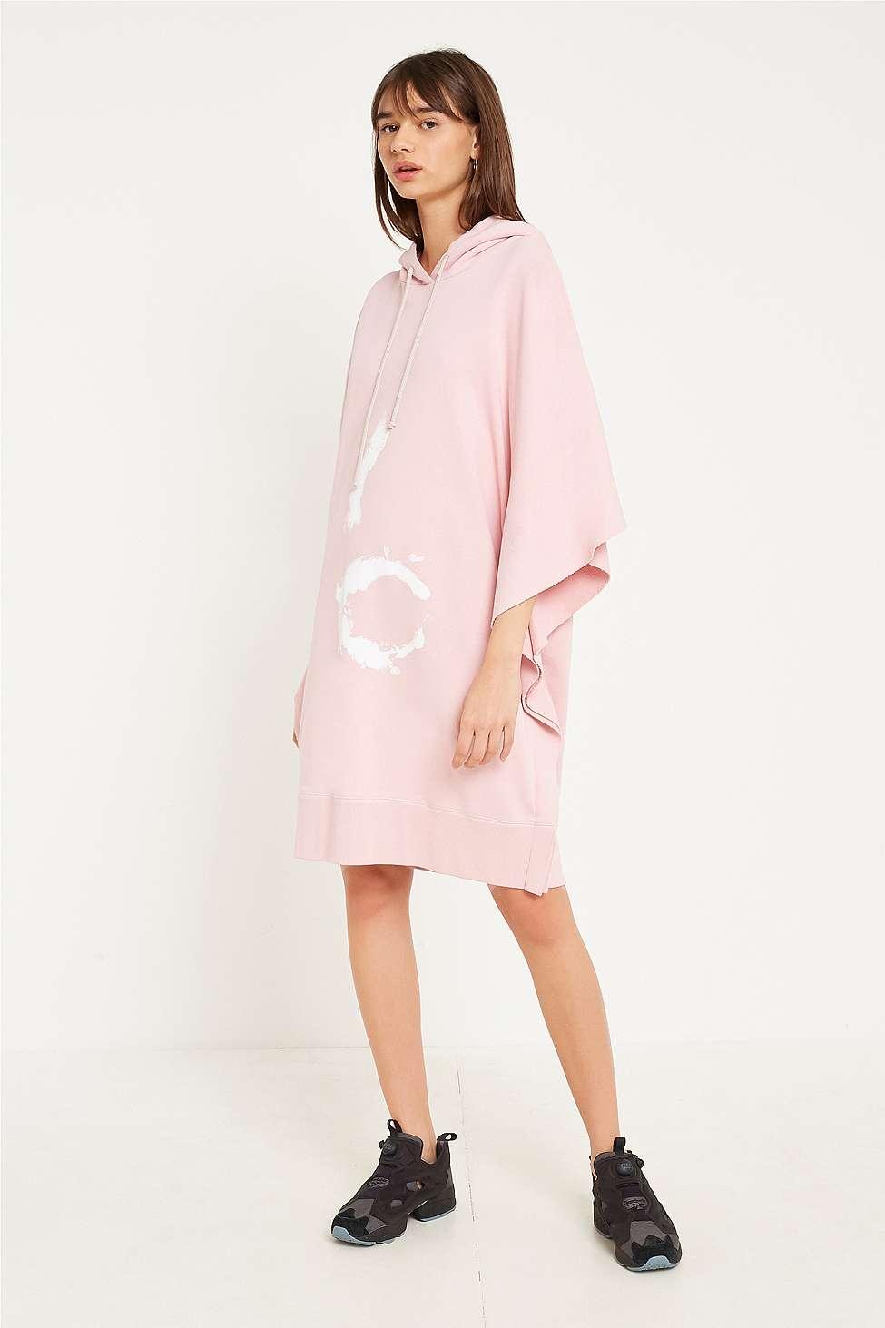 MM6 Pink Hoodie Dress, Pink