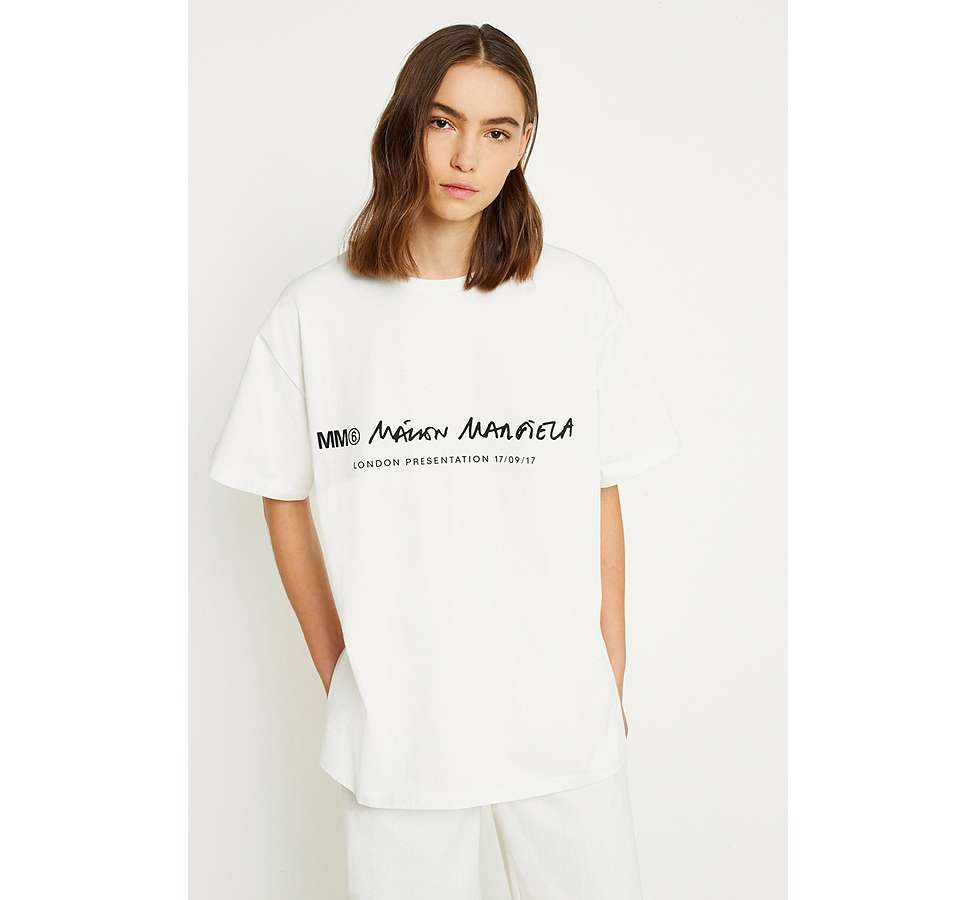Slide View: 1: MM6 Linear T-Shirt