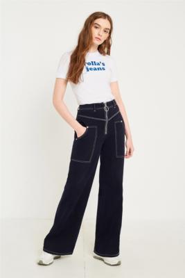 Rolla's - Rolla's Jeans Flocked Logo T-Shirt, White