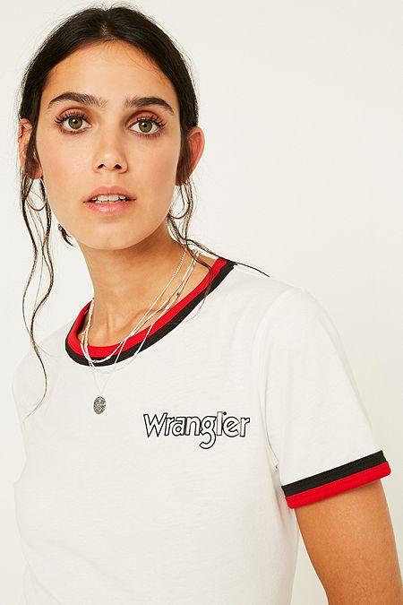 c2f6b907d56fb0 Wrangler Logo Ringer T-Shirt
