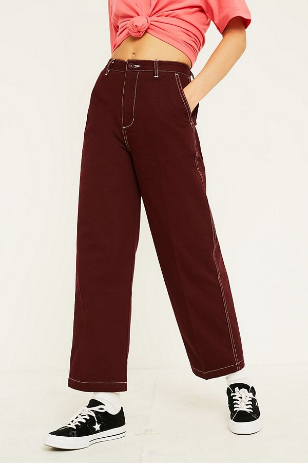 Slide View: 2: Santa Cruz Nolan Plum Workwear Trousers