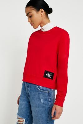 Calvin Klein - Calvin Klein Red Logo Sweatshirt, Red
