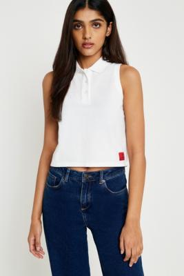 Calvin Klein - Calvin Klein White Polo Shirt, White
