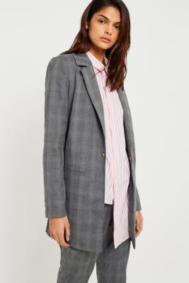 Gestuz - Gestuz Cheril Checked Blazer, Grey