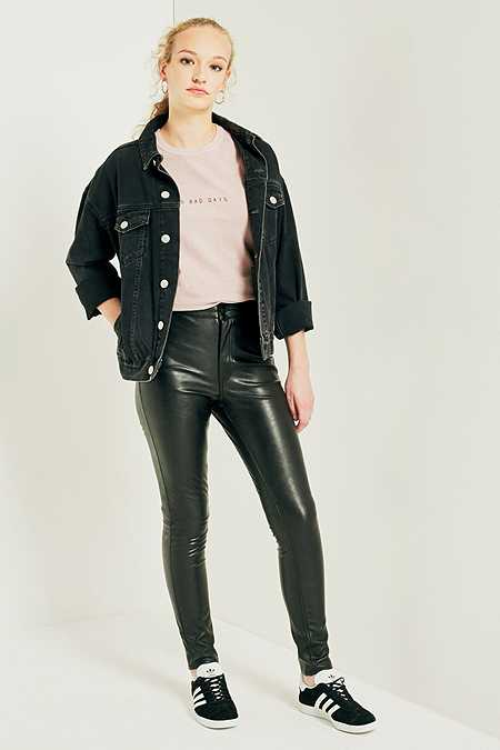 Cheap Monday No Pkt Spray Clear Black Jeans