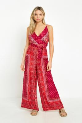 Free People - Free People Cabbage Rose Printed Jumpsuit, Pink