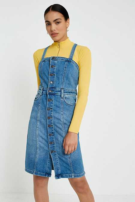 Robes Chasubles & Salopettes Femme | Robes En Jean | Urban Outfitters