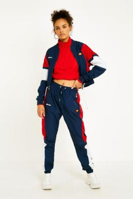Ellesse Navy Panel Shell Track Pants by Ellesse