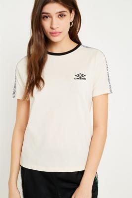 Umbro - Umbro Logo Taping Striped T-Shirt, Cream