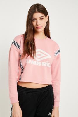 Umbro - Umbro Pink Cropped Taped Sweatshirt, Pink