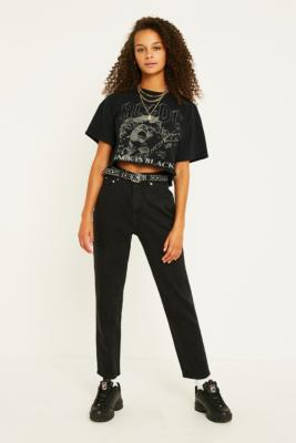 Cheap Monday Donna Friday Black Mom Jeans by Cheap Monday