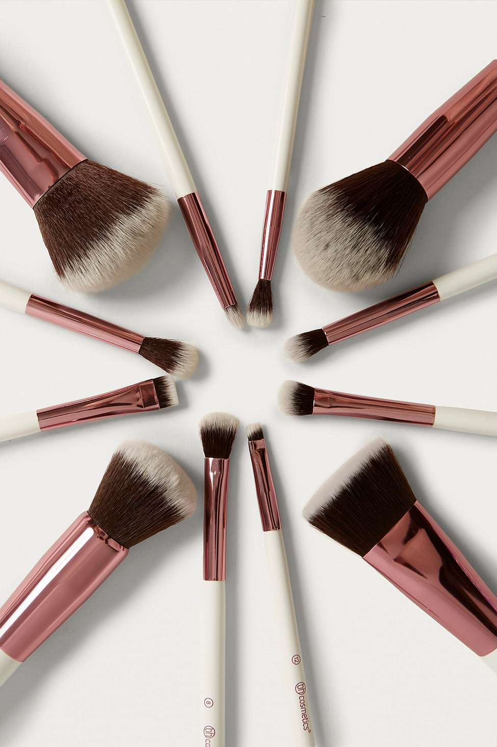 Slide View: 2: bh cosmetics Crystal Quartz 12-Piece Brush Set
