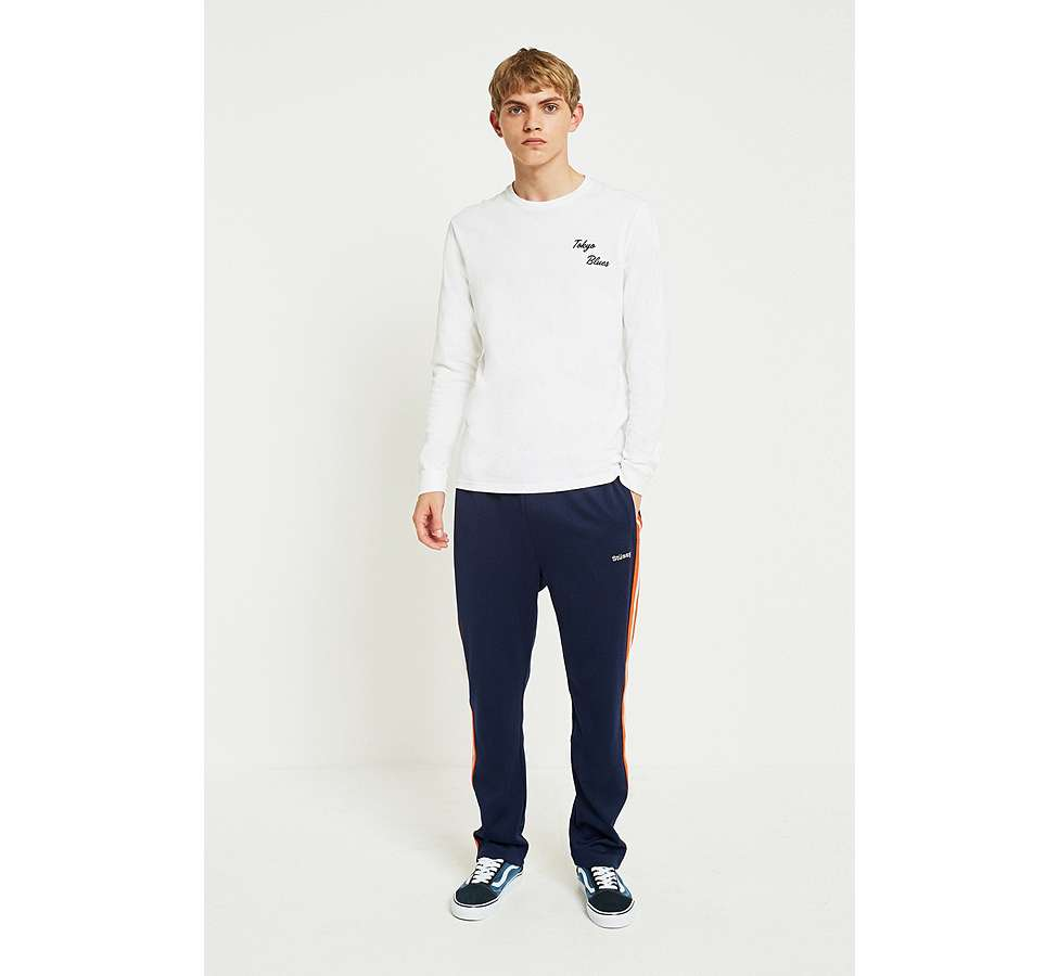 Slide View: 3: Edwin Tokyo Blues Embroidered White Long-Sleeve T-Shirt