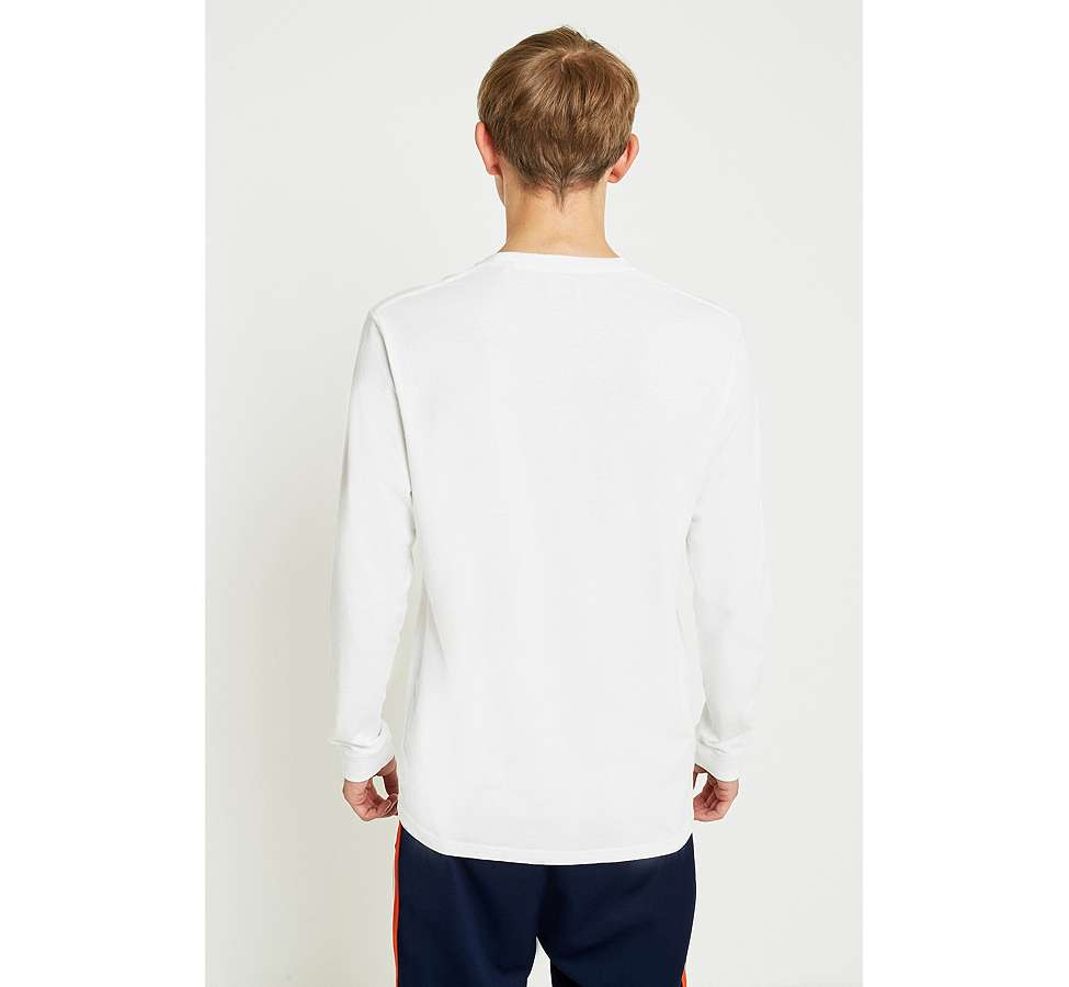 Slide View: 4: Edwin Tokyo Blues Embroidered White Long-Sleeve T-Shirt