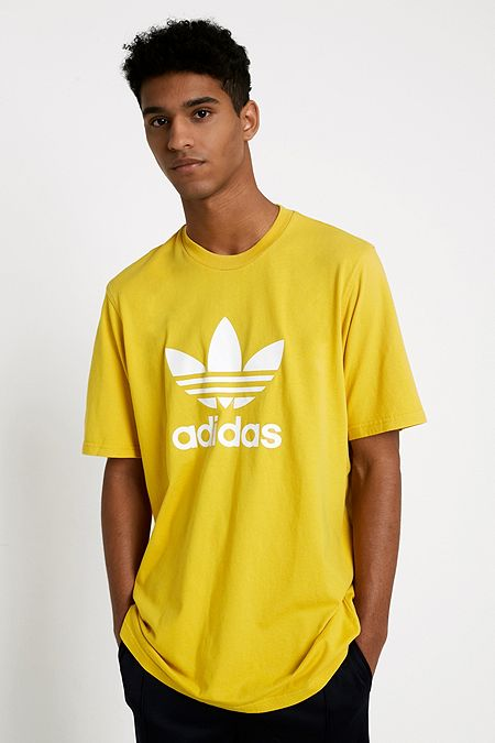 adidas Yellow Trefoil T-Shirt