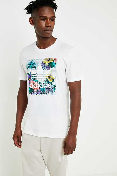 adidas BB Floral Fill White T-Shirt