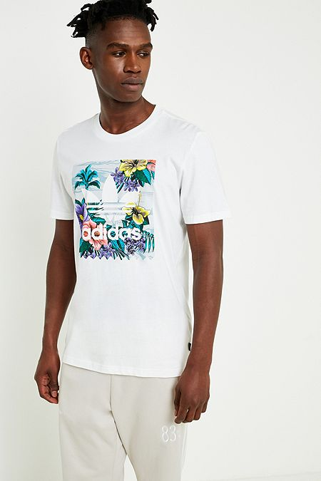 adidas BB Floral Fill White T-Shirt. Quick Shop