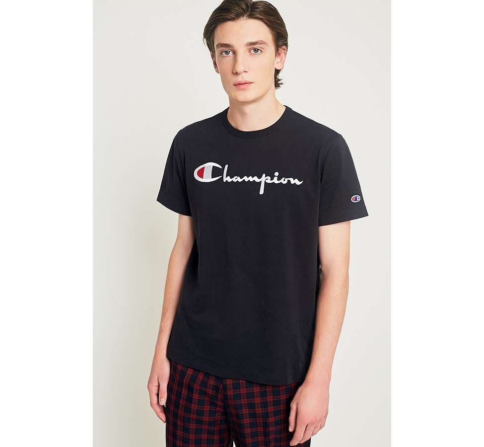 Slide View: 2: Champion Script Black T-shirt