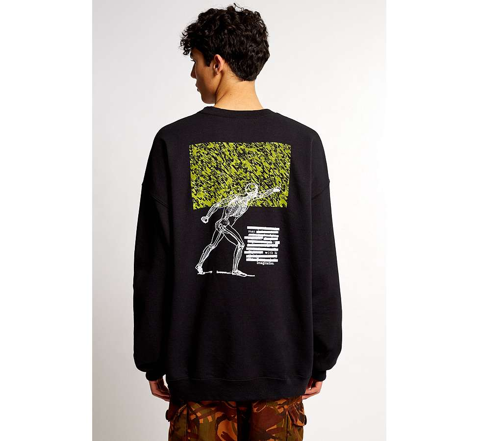 Slide View: 2: Liam Hodges X UO - Sweatshirt Man With His Imagination