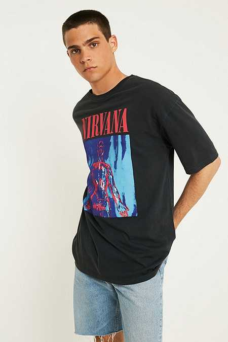 UO Nirvana Washed Black T-Shirt