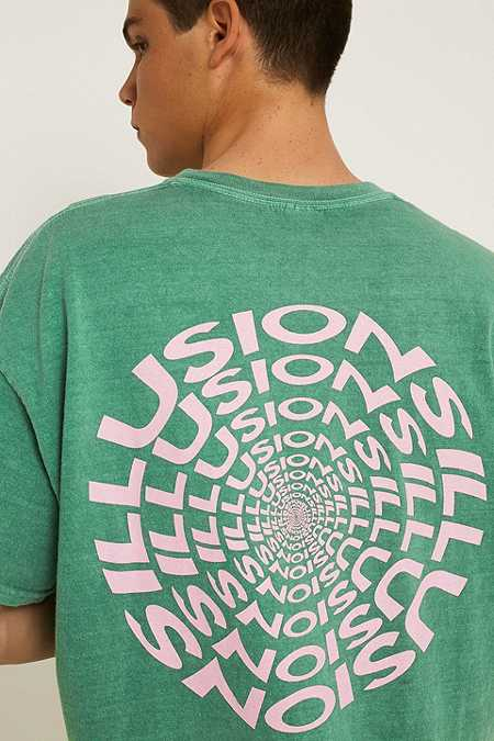 UO Green & Pink Illusions T-Shirt
