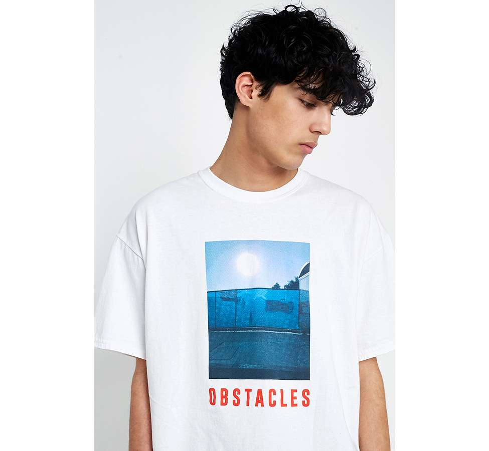 Slide View: 1: UO Obstacles White T-Shirt