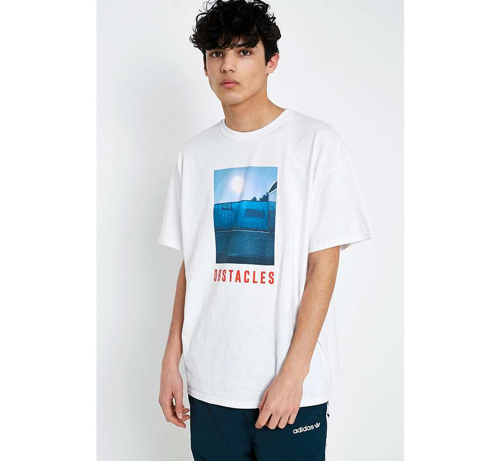 Slide View: 4: UO Obstacles White T-Shirt