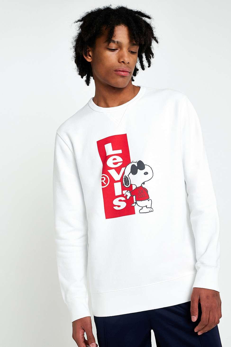Sweatshirt mit Snoopy-Grafik - Weiß Levi's nUg7Av1kXq